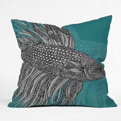 Beta Fish Throw Pillow Size: 18 H x 18 W
