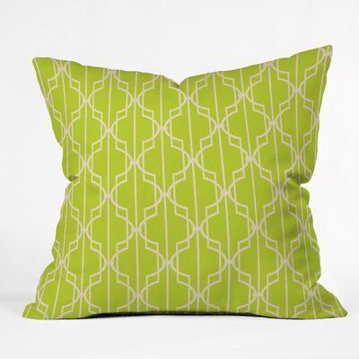 Mary Beth Freet Trellice Indoor outdoor Throw Pillow Size: Large