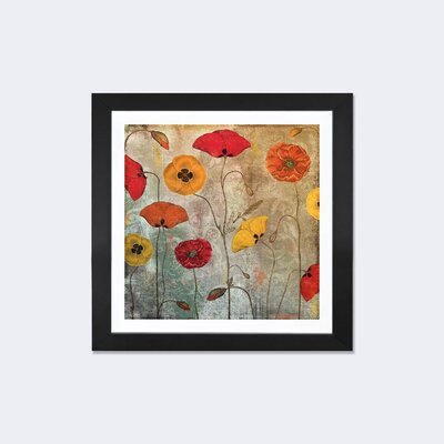 """Dancing Poppies"""" by Color Bakery Painting Print on Wrapped Canvas Size: 12"""" H x 12"""" W x 0.75"""" D 9181-1PC3-12x12"""