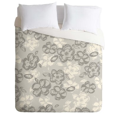 Lightweight Russian Ballet Duvet Cover Size: Queen, Color: Gray and Beige