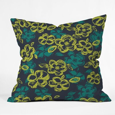 Russian Ballet Throw Pillow Size: 16 x 16, Color: Black/Green
