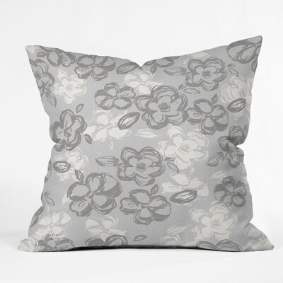 Russian Ballet Throw Pillow Color: Gray, Size: 18 x 18