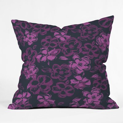 Russian Ballet Throw Pillow Size: 18 x 18, Color: Black/Purple