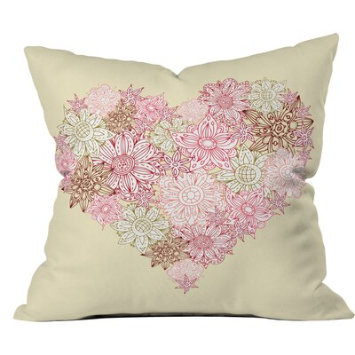 Heart One Polyester Throw Pillow Size: 26 H x 26 W x 7 D