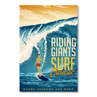 Riding Giants Vintage Advertisement ESRB7453 36869665