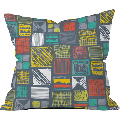 Square Metropolis Polyester Throw Pillow Size: 26 H x 26 W x 7 D