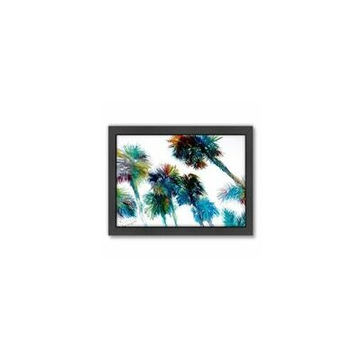 East Urban Home Trees Painting Print in Blue ESRB7457 36930261