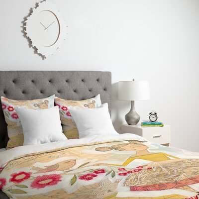 The Secret To Happiness Duvet Cover Size: Twin, Fabric: Lightweight