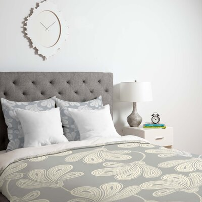 Provencal Gray 1 Duvet Cover Size: King, Fabric: Lightweight