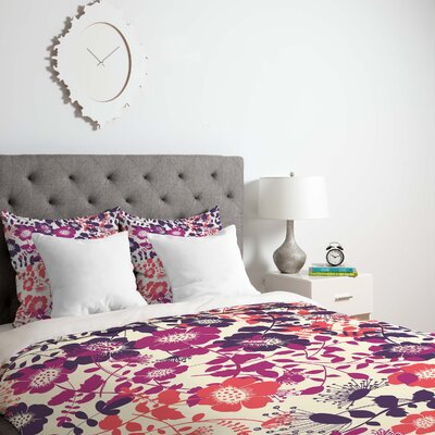 Provencal Lavender 2 Duvet Cover Size: King, Fabric: Lightweight