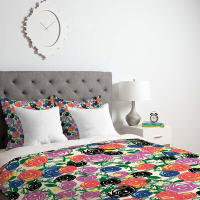 Valencia 5 Duvet Cover Size: Queen, Fabric: Lightweight