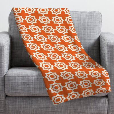 Khristian A Howell Moroccan Mirage Throw Blanket Size: Large, Color: Orange
