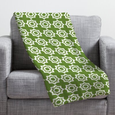 Moroccan Mirage Throw Blanket Size: Large, Color: Green