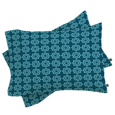 Moroccan Mirage Pillowcase Color: Blue, Size: Standard