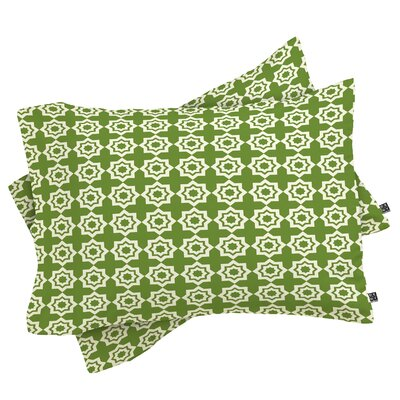 Moroccan Mirage Pillowcase Size: Standard, Color: Green