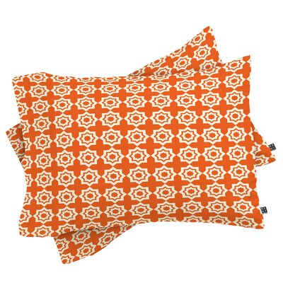 Moroccan Mirage Pillowcase Color: Orange, Size: Standard