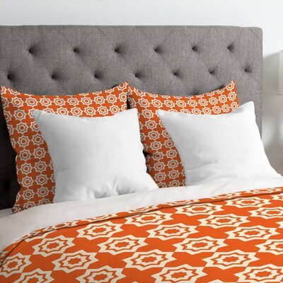 Lightweight Moroccan Mirage Duvet Cover Size: Twin, Color: Orange