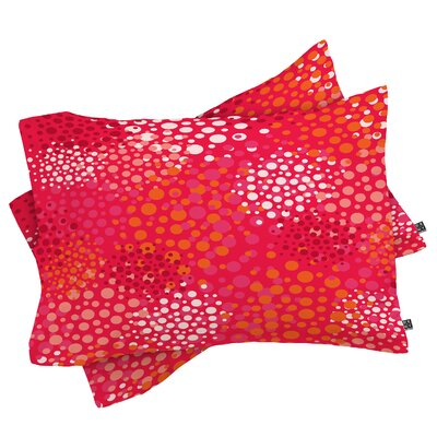 Brady Dots 2 Pillowcase Size: King