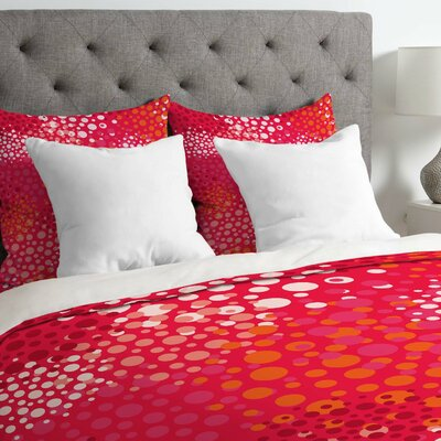 Lightweight Brady Dots Duvet Cover Size: Queen