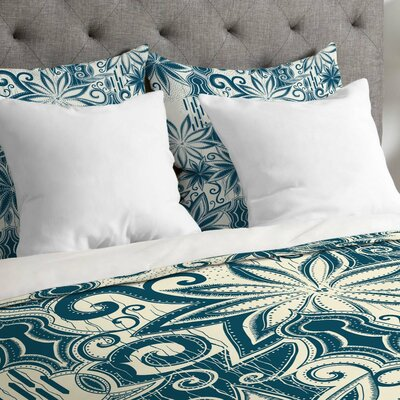 Lightweight Moroccan Mirage Duvet Cover Size: King