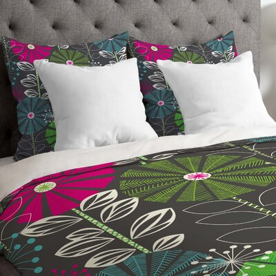 Lightweight Cape Town Blooms Duvet Cover Size: Queen