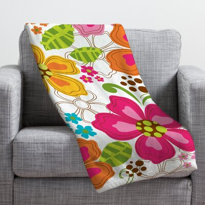 Khristian A Howell Kaui Blooms Throw Blanket Size: Small