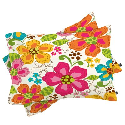 Kaui Blooms Pillowcase Size: King