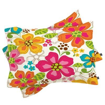 Kaui Blooms Pillowcase Size: Standard