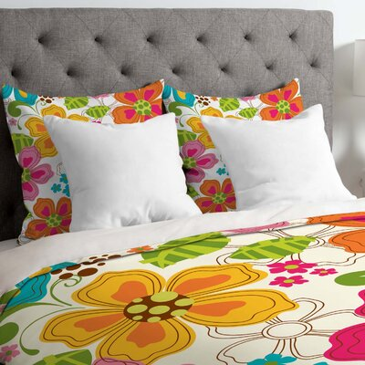 Lightweight Kaui Blooms Duvet Cover Size: King
