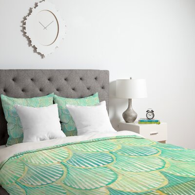 Scallops Duvet Cover Size: King, Fabric: Lightweight