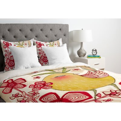 Sweetie Pie Duvet Cover Size: Twin, Fabric: Lightweight