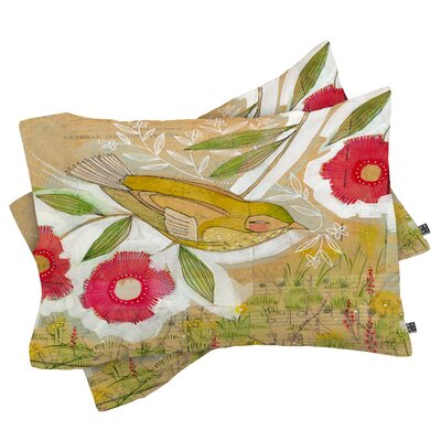 Sweet Meadow Bird Pillowcase Size: King