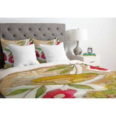 Cori Dantini Sweet Meadow Bird Duvet Cover Size: King, Fabric: Lightweight