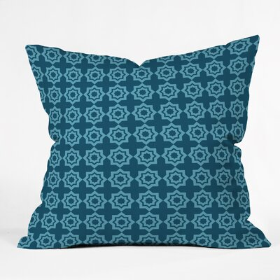 Moroccan Mirage Throw Pillow Size: 16 H x 16 W, Color: Blue