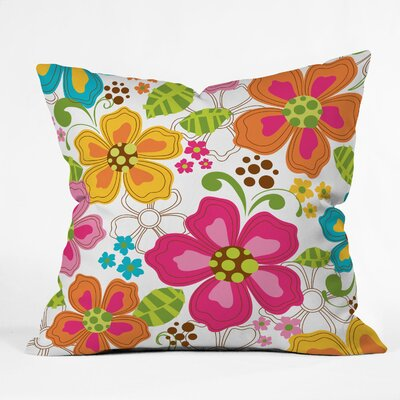 Kaui Blooms Throw Pillow Size: 18 x 18