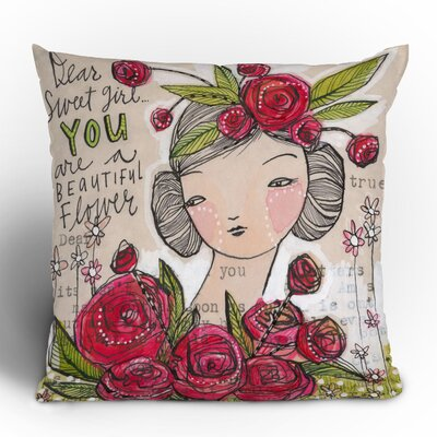 Dear Sweet Girl Throw Pillow Size: 18 x 18