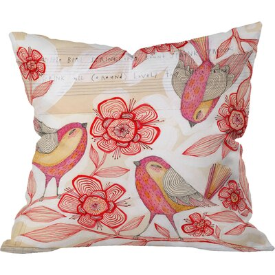 Sprinkling Sound Indoor Throw Pillow Size: 16 x 16