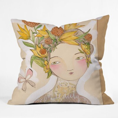 Beauty on The Inside Throw Pillow Size: 16 x 16