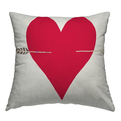 Heart Throw Pillow Size: 14 H x 14 W x 2 D