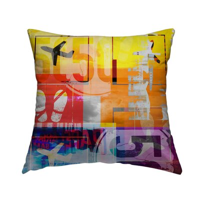 Airplanes Throw Pillow Size: 16 H x 16 W x 1.5 D