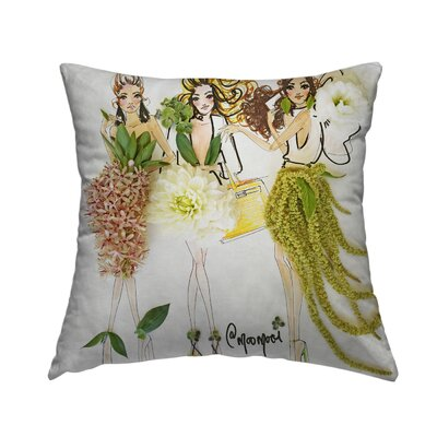 Blossom Beauties Throw Pillow Size: 14 H x 14 W x 1.5 D
