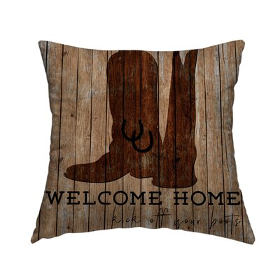 Welcome Home Throw Pillow Size: 14 H x 14 W x 1.5 D