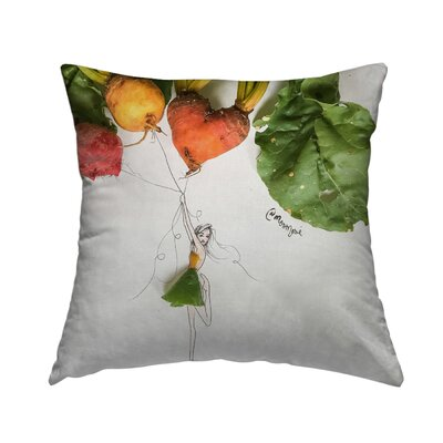 Heart Beat Throw Pillow Size: 14 H x 14 W x 1.5 D