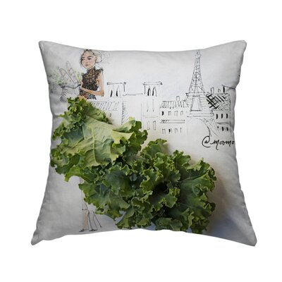 Kale Kouture Throw Pillow Size: 14 H x 14 W x 1.5 D