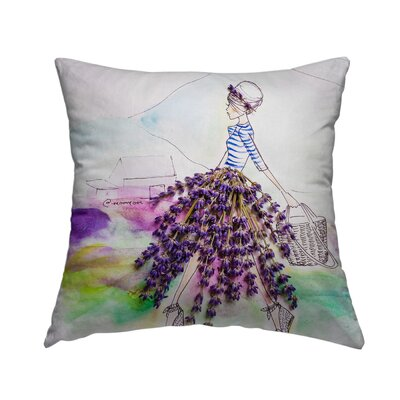 Lavender Lady Throw Pillow Size: 20 H x 20 W x 1.5 D
