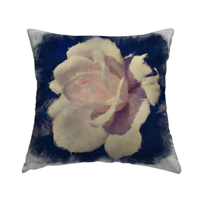 Shimmering Rose Throw Pillow Size: 14 H x 14 W x 1.5 D