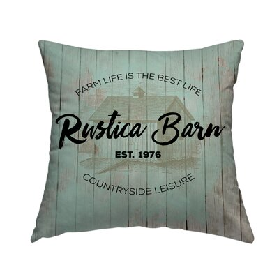 Rustica Barn Throw Pillow Size: 16 H x 16 W x 1.5 D