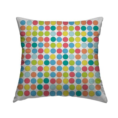 Retro Dots Throw Pillow Size: 18 H x 18 W x 1.5 D