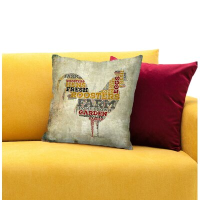 Roosters Throw Pillow Size: 18 H x 18 W x 1.5 D