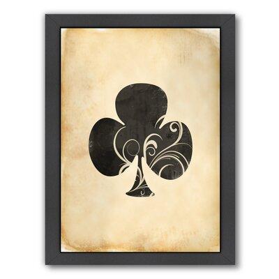 'Playing Card Clubs' by Indigo Sage Framed Graphic Art ESRB8207 36974171